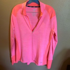 Avia Pink Woman's Sport Pullover Long Sleeve Top-L